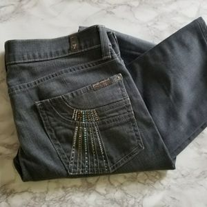 7 for all mankind Roxanne Rhinestone Straight Jean